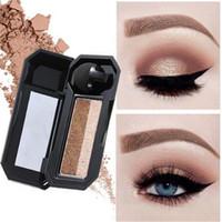 Wholesale ubub makeup for sale - Group buy UBUB Double Colors color lazy Eyeshadow Palette Makeup Eye shadow Waterproof long lasting Glitter Eyeshadow Cosmetics