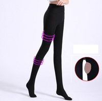 addb095d5cc9a2 50Pcs Hot Sale Lets slim Women Compression Shaper stockings Knitted Slim  Leggings Tights Super Elastic pantyhose Leg Shaper