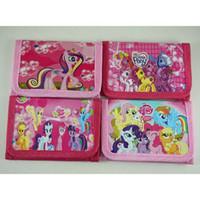 gökkuşağı midillisi toptan satış-Toptan yeni satış 48 adet Gökkuşağı pony cüzdanlar plattern hediye çanta çocuk hediyeler yeni 4 stilleri