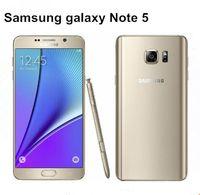 Wholesale galaxy band - Hot sell Original Unlocked Samsung Galaxy Note 5 N920P Octa Core 4GB RAM 32GBROM LTE 16.0MP 5.7 Dual-band refurbished Mobile Phone