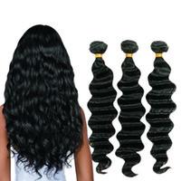 saç örgüsü demetleri satın alma toptan satış-Perulu Saç Demetleri Gevşek Derin Dalga Remy İnsan Saç Uzantıları 4 Veya 3 Demetleri Satın Alabilirsiniz Doğal Renk Saç Örgü stokta
