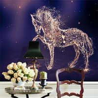 Wholesale horse wall paint modern - Custom 3D Photo Wallpaper Horse Large Wall Painting Wall Paper Living Room Bedroom TV Background Mural Wallpaper Art Home Decor