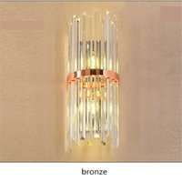 Wholesale K9 Crystal Wall Sconce - Modern LED K9 Crystal Wall Lamp sconce for hallway living room Luxury Villa Hotel Bedroom Bedside Lamp home Mirror LED wall fixtures lights