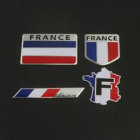 renault aufkleber großhandel-Auto Peugeot Auto Logo Metall Aufkleber Körper Dekoration Tricolor Flagge Symbol Frankreich Flagge Schwanz Für Renault Citroen