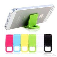 складные сотовые телефоны оптовых-Универсальный складной мини стенд портативный складной держатель для сотовых телефонов Iphone4 4s 5 Samsung HTC