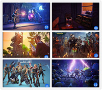 Wholesale posters games - 100pcs DHL Multi Pattern NEW Hot Game Fortnite Battle Royale Game Poster Wall Painting Posters Prints on Canvas Art Wall Pictures 13 styles