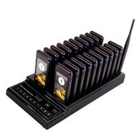 teclado de compras al por mayor-999CH Sistema de llamadas de localización de llamadas inalámbrica con 20 llamadas Coaster Pager + 1 transmisor de teclado para restaurante Food Court Coffee Shop Hotel