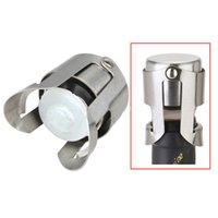 Wholesale home wine kitchen for sale - DHL Bar wine stoppers with Silicone Sealer stainless steel party home kitchen Champagne Wine Stopper Plug tools