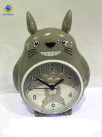niedliche nadel großhandel-Wecker Nachtlicht NADEL Double Bell Mute multifunktionale Stimme Cute Cartoon Studenten Kinder Tisch Totoro Uhr