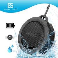 ingrosso casella dell'altoparlante ipad-C6 IPX7 doccia sport all'aperto portatile impermeabile senza fili Bluetooth altoparlante ventosa vivavoce casella vocale per iphone 6 iPad PC Phone