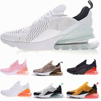 Wholesale womens navy blue flats - Vapormax 270 Running shoes Navy Teal Mens Flair Triple Black AH8050 Trainer Sports Shoe Medium Olive Bruce Lee Womens 270s Sneakers 36-45