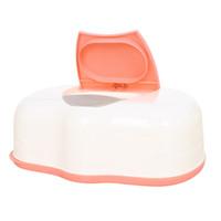 Wholesale wet wipes tissue - Tissue Case Baby Wipes Box Plastic Wet Tissue Automatic Case Care Accessories Press Pop-up Design(Color random)
