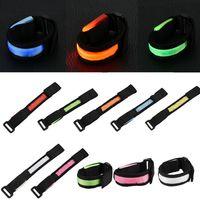Wholesale led flashing armband - Reflective LED Light Arm Armband Strap Safety Belt For Night Light Running Cycling Arm Band Flashing Safety For Children 7 color