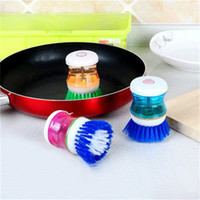 Wholesale pressure hydraulic - Cleaning Brushes Hydraulic Pressure Liquid Scrub Brush Dishwashing Pot Plastic Convenient Kichen Tool Hot Sale 1 3jj V