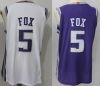 Wholesale fox mix - 2018 New Men 5 De Aaron Fox Player version 100% Stitched Jerseys Cheap College mixed Order size S-XXL