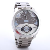 Wholesale grand double - Double movement grand dial display luxury men watch DZ 7382 quartz automatic watches casual sport military invicta big bang wristwatch