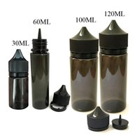 Wholesale Wholesale Black Bottles - DHL Free Black Gorilla Bottle 30ml 50ml 60ml 100ml 120ml PET Unicorn Plastic Dropper Bottles with Tamper Evident Cap for E liquid
