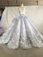online Shopping Ball Gowns - Luxury High Quality Lace Appliqued Tiered Vintage Wedding Dresses Custom Made Bridal Gown 3D Flowers Ball Gown Wedding Gowns 2018