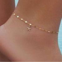 Wholesale anchor ankle bracelet - boho starfish Women Anklet Foot chain Jewelry Ankle bracelet Femme cheville bijoux pulseras tobilleras mujer Enkelbandje