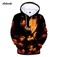 Wholesale attack on titan for sale - Aikooki New Attack on Titan D Hoodies Sweatshirt Anime Men Women Casual D Hooded street wear Regular Polluvers Clothes