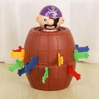 Wholesale pirate barrel toy online - DHL New Hot Selling strange whimsy pirates barrels Uncle Family Wacky and Novel Toys Bingo