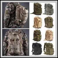 Wholesale tactical rucksacks - 12 Colors 30L Hiking Camping Bag Military Tactical Trekking Rucksack Backpack Camouflage Molle Rucksacks Attack Backpacks CCA9054 30pcs