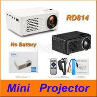 Wholesale Mini Projector RD814 LCD LED Portable pocket Projectors RD Home Theatre Cinema Multimedia Support USB Kids Child Video Media Player
