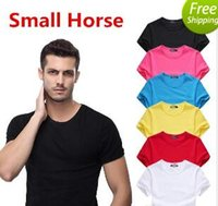 Wholesale high fashion clothing for men - New Summer Men's Small Horse Embroidery T Shirt Men Summer Casual Short Sleeve Fashion T-shirt For Man Cool Tops brand clothing High Quality