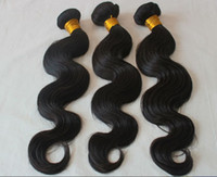 Wholesale discounted 18 inch hair weave resale online - 2018 Factory Discount Price Great Quality Human Hair Weave Body Wave Straight Bundles Cheap Brazilian Peruvian Malaysian Indian Hair