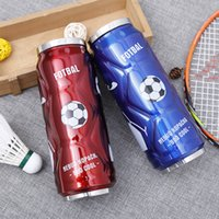Wholesale fashion design can online - 500ml Creative Coke Bottle Design Stainless Steel Vacuum Cup Portable Outdoors Straw Cups Fashion Cans Shape Drinking Container ss Z