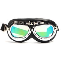 ветрозащитные очки солнцезащитные очки оптовых-Off-road Goggles Motorcycle Windproof Glasses Goggles Pilot Motorcycle Sunglasses Leather Retro Helmet Glasses
