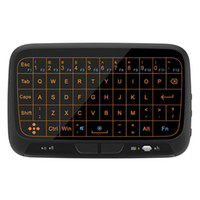 Wholesale mouse for ipad - H18 Plus Full Touchpad Backlight Mini Keyboard with 2.4GHz Wireless Gaming Air Mouse For Smart TV ipad PS3 TV Box PC
