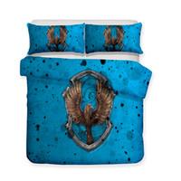 Wholesale 3d bedding set for sale - 3D Printed Bedding Movie Theme Harry Potter Blue Ravenclaw College Bedding Sets duvet Cover Set