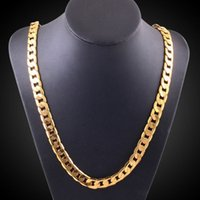 Wholesale Trade Chandeliers - Hot European and American tide men and women necklaces wholesale foreign trade Hiphaela plated 18K gold twisted piece side necklace