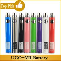 evod ii kit großhandel-Authentische UGO-VII-Batterie 650 900 mAh Ego 510 EVOD UGO V II Micro-USB-Passthrough-Ladegerät E Zigaretten-Vaporizer-Kit mit Micro-USB-Ladegerät
