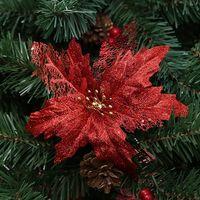 neujahrsblume großhandel-Künstliche Blumen Weihnachtsschmuck für Zuhause Christbaumschmuck Weihnachtsbaum New Year Decor Navidad 2018