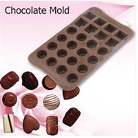 Hot sales!!! 24 Holes Chocolate Molds for Chocolate & Solid Grids Chocolate Baking Mold