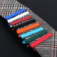metal gravatas venda por atacado-Simples Doce Cor Beleza Cavalheiro Prático Venda Quente Moda Metal Tie Clip Best Selling Gravata Bar Fecho