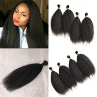 Wholesale kinky bulk hair wholesale for sale - Malaysian Hair Bulk For Bundles Indian Human Hair Kinky Straight Bulk Hair Natural Color Fast Shipping FDSHINE