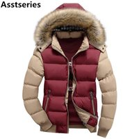Wholesale Fur Hood Jackets - 15 Color Fashion Brand Winter Men's Down Jacket With Fur Hood Hat Slim Men Outwear Coat Casual Thick Mens Down Jackets 4XL