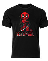 camiseta deadpool de marvel al por mayor-Deadpool Superhero Marvel Badass Comic Book Camiseta para hombre camiseta AH95 Cartoon camiseta para hombre Unisex