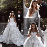 Wholesale model simple ribbon bow for sale - Group buy 2019 Ivory Spring Summer Wedding Dresses Sweetheart Lace Appliques A Line Wedding Bridal Gowns With Ribbon Sash Country Vintage Custom Made