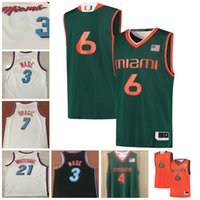 Wholesale Iv 11 - Miami Hurricanes 4 Lonnie Walker IV 11 Bruce Brown 3 Vice City Edition Dwyane Wade Goran Dragic Hassan Whiteside College Basketball Jersey