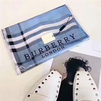 weiß gestickter schal großhandel-Designer Schal Mode Frauen dekorative Seide Marke gedruckt Schal Mode langen Schal 190 * 90 cm