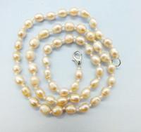 perla entrega gratuita al por mayor-El último collar de perlas de 19 piezas. 5-6MM rosa / violeta / gris, collar de perlas barroco de agua dulce. Entrega gratuita 18 pulgadas