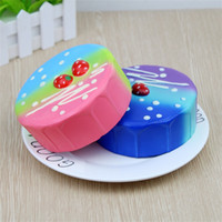 Wholesale gift simulation children for sale - Group buy Colourful Simulation Strawberry Mousse Cake Squishy Decompression Toys Squishies Bread Slow Rising Squeeze Toy Children Gift bc C