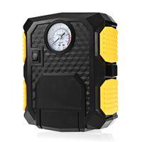 car tire pump achat en gros de-Gonfleur automatique de pneu de pompe à air de voiture de compresseur d'air de la pompe 12V de gonfleur de pneu de voiture 12V avec le câble d'alimentation de la lumière 3M de LED