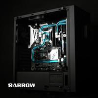 refrigeração de água do ventilador de cobre venda por atacado-Barrow hard tube Kits de resfriamento de água com radiador de cobre de 240mm, bloco do processador central, ventiladores do diodo emissor de luz, reservatório para AMD 3 Intel LGA 1151 LGA 2011