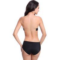 ingrosso reggiseno chiaro-Push up invisibile trasparente indietro cinghie Bra Cup Hot Backless Underwear New senza spalline