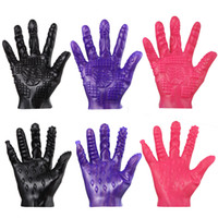Wholesale glove sex - New Sex Toy Masturbation Glove Adult Game Product Fetish SM Game Aid Sextoy for Couples Women Boobs Vagina Man Body Stimulator